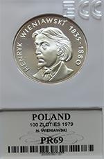 100 zł Henryk Wieniawski 1979 - Grading PR69