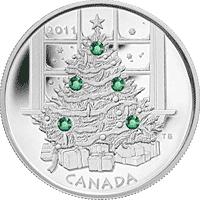 Kanada - 2011, 20 dolarów - Choinka - monety