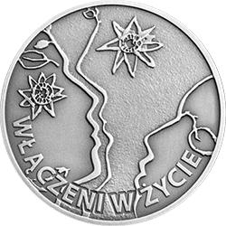 10 zł 2013 50-lecie działalności Polskiego Stowarzyszenia na Rzecz Osób z Upośledzeniem Umysłowym - monety