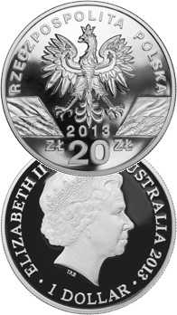 20 zł 2013 / $1 2013 Kangur - Walabia Bennetta/Kangur olbrzymi