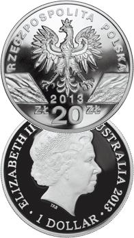 20 zł 2013 / $1 2013 Kangur - Walabia Bennetta/Kangur olbrzymi