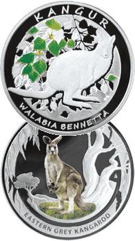 20 zł 2013 / $1 2013 Kangur - Walabia Bennetta/Kangur olbrzymi - monety