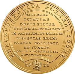 500 zł 2013 Skarby Stanisława Augusta - Władysław Łokietek