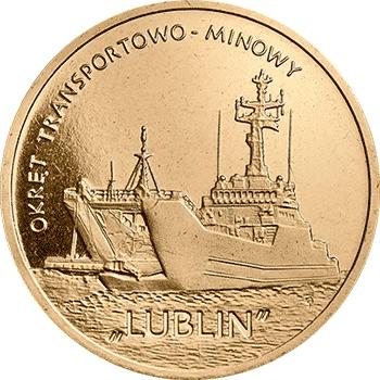 """2 zł 2013 Okręt transportowo-minowy """"Lublin"""""""