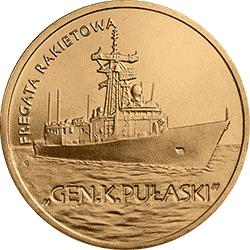 2 zł 2013 Fregata rakietowa - Gen. K. Pułaski