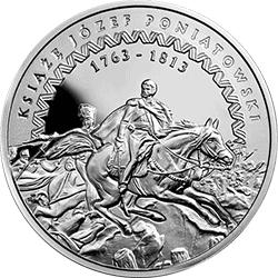 10 zł 2013 200. rocznica śmierci księcia Józefa Poniatowskiego