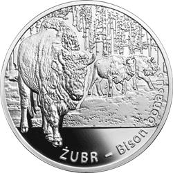 20 zł 2013 Żubr - Zwierzęta świata