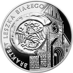 10 zł 2014  Historia Monety Polskiej - Brakteat Leszka Białego
