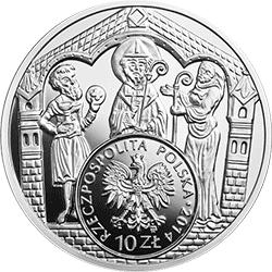 10 zł 2014  Historia Monety Polskiej - Brakteat Mieszka III
