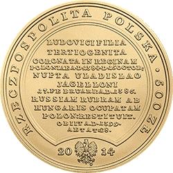 500 zł 2014 Skarby Stanisława Augusta - Jadwiga
