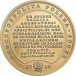 500 zł 2014 Skarby Stanisława Augusta - Ludwik Węgierski