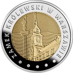 5 zł 2014 Zamek Królewski w Warszawie - Odkryj Polskę