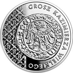 20 zł 2015 Historia Monety Polskiej - Grosz Kazimierza Wielkiego