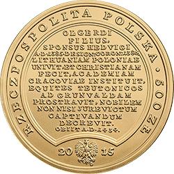 500 zł 2015 Skarby Stanisława Augusta - Władysław Jagiełło