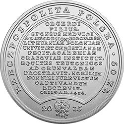 50 zł 2015 Skarby Stanisława Augusta - Władysław Jagiełło