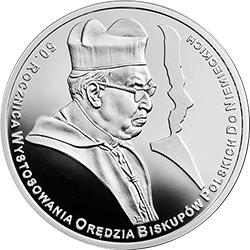 10 zł 2015 50. rocznica wystosowania orędzia biskupów polskich do niemieckich