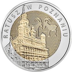 5 zł 2015 Ratusz w Poznaniu - Odkryj Polskę - monety
