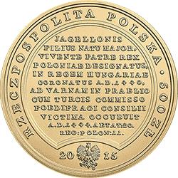 500 zł 2015 Skarby Stanisława Augusta - Władysław Warneńczyk