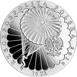 10 zł 2016 75. rocznica pierwszego zrzutu Cichociemnych