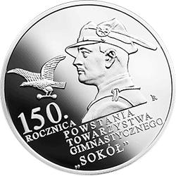"""10 zł 2017 150. rocznica powstania Towarzystwa Gimnastycznego """"Sokół"""""""