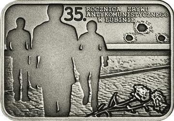 20 zł 2017 35. rocznica zrywu antykomunistycznego w Lubinie - monety