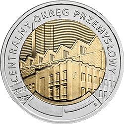 5 zł 2017 Centralny Okręg Przemysłowy - Odkryj Polskę - monety