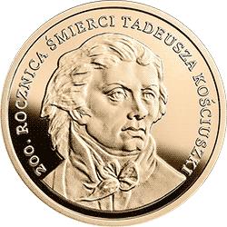 200 zł 2017 200. rocznica śmierci Tadeusza Kościuszki - monety