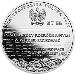 20 zł 2017 Pięć wieków Reformacji w Polsce