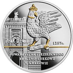 10 zł 2018 760-lecie Towarzystwa Strzeleckiego Bractwo Kurkowe w Krakowie - monety