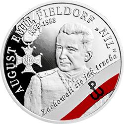 """10 zł 2018 Wyklęci przez komunistów żołnierze niezłomni - August Emil Fieldorf """"Nil"""" - monety"""
