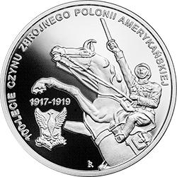 10 zł 2018 100-lecie czynu zbrojnego Polonii amerykańskiej - monety