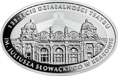 10 zł 2018 125-lecie działalności Teatru im. Juliusza Słowackiego w Krakowie - monety