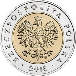 5 zł 2018 100-lecie odzyskania przez Polskę niepodległości