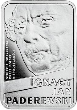 10 zł 2018 Ignacy Jan Paderewski - Stulecie odzyskania przez Polskę niepodległości - monety