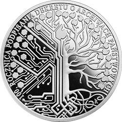 10 zł 2019 100. rocznica podpisania Dekretu o archiwach państwowych - monety