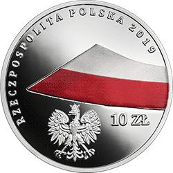 10 zł 2019 100-lecie polskiej flagi państwowej