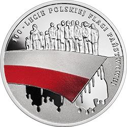 10 zł 2019 100-lecie polskiej flagi państwowej - monety
