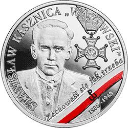 """10 zł 2019 Wyklęci przez komunistów żołnierze niezłomni - Stanisław Kasznica """"Wąsowski"""" - monety"""