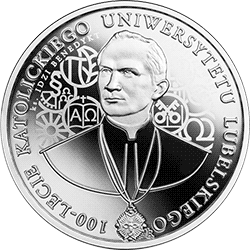 10 zł 2019 100-lecie Katolickiego Uniwersytetu Lubelskiego (KUL) - monety