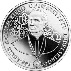 10 zł 2019 100-lecie Katolickiego Uniwersytetu Lubelskiego (KUL)