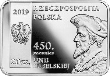 20 zł 2019 450. rocznica Unii Lubelskiej