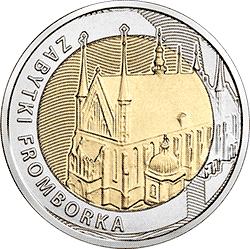 5 zł 2019 Odkryj Polskę – Zabytki Fromborka - monety