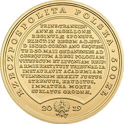 500 zł 2019 Skarby Stanisława Augusta - Stefan Batory