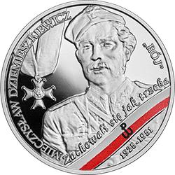 """10 zł 2020 Wyklęci przez komunistów żołnierze niezłomni - Mieczysław Dziemieszkiewicz """"Rój"""" - monety"""