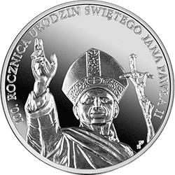 10 zł 2020 100. rocznica urodzin Świętego Jana Pawła II Ag999 - monety