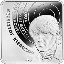 10 zł 2020 Historia polskiej muzyki rozrywkowej - Krzysztof Klenczon - kwadrat - monety