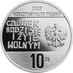 """10 zł 2020 40. rocznica powstania NSZZ \""""Solidarność\"""""""
