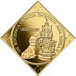 500 zł 2020 100. rocznica urodzin Świętego Jana Pawła II - monety