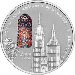 50 zł 2020 700-lecie konsekracji kościoła Mariackiego w Krakowie - monety