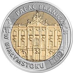5 zł 2020 Odkryj Polskę – Pałac Branickich w Białymstoku - monety